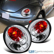 Fit Vw 98-05 Beetle Clear Lens Parking Tail Lights Rear Brake Lamps Left+right