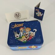 Vintage Jetsons Lunchbox Tin Fossil Watch Pin Set New In Box New 1993 Complete