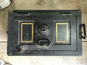 Vintage Victor Safe And Lock Army Strong Box Train Stagecoach Military 1918 Qmc