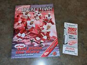 2007 Detroit Red Wings Vs Calgary Flames Stanley Cup Playoffs Ticket Program Nhl