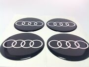 New 4pcs Silicone Stickers For Wheel Centre Cap Hubs For Audi - 55mm