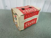 Vintage 6 Pack Coors Beer Cans Original Sleeve 7 Oz. Size -only 5 Empty Cans