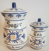 Royal Sealy Heritage 1950's Canisters, Sugar And Tea