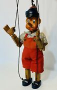 """Vintage Carved Wooden Marionette Puppet Pinocchio 14"""""""