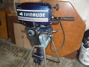 Running Evinrude Johnson 1989 Outboard 4 Hp Excel/ultra Powerhead And Ignition