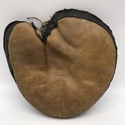 Vintage Antique Leather Catchers Mitt Baseball Glove Early 1900s