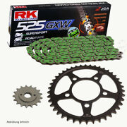 Chain Set Suitable For Yamaha Yzf R1 15-21 Chain Rk Mm 525 Gxw 114 Green 16/41