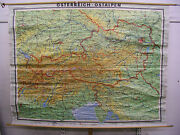 Schulwandkarte Wall Map School Map Old Austria Alps Map Austria 239x183