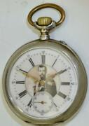Antique International Watch Co Silver Pocket Watch For Imperial Russian Market
