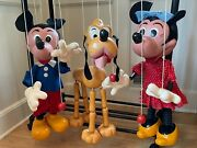 Pelham Puppet 1950s Shop Display Puppets - Mickey Mouse Minnie And Pluto