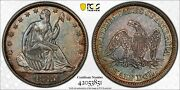 1843 O Seated Liberty Half Dollar - Pcgs Au 55 - Beautiful Toning