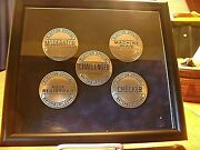 Lot Of 5 Rare Political Election Official Pin Back Badges From Waterbury Ct