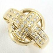 Jewelry 18k Yellow Gold Ring 13 Size Bluetotal0.85 Free Shipping Used