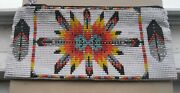 Collectible-unique-native American-hand Made- Beaded Purse 4 1/2 X 6  .