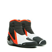 Dainese Dinamica Air Black Fluo Red White Motorcycle Boots - New Free Shipp...