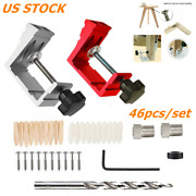 46 Pocket Hole Jig Kit Dowel Drill Joinery Screw Carpenters Woodwork Angle Tool