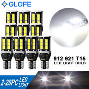 Lot 2-20 Pc Backup Reverse Lights 921 912 T15 Led 6000k Bright White Bulb 1200lm