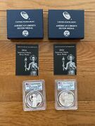 2016 S And W American Liberty Silver Medal Set Pcgs Pr69dcam First Strike
