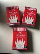 Lot Of 3 Boxes Mini Christmas Lights- White Wire