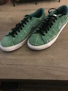 Nike Blazer Low Green Noise Menand039s Size 7.5 Black White At4610-300 Good Condition
