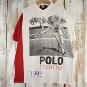 90and039s Polo Stadium 1992 Barcelona Olympics Made In Usa Do-toss Photo Shirt 90