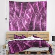 Designart And039purple Metal Protective Gridsand039 Abstract Wall Small