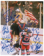 1980 Us Olympic Hockey Team - Autographed Signed Photograph With Co-signers