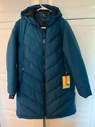 Women's Mid-length Puffer Jacket - All In Motion Teal S Small