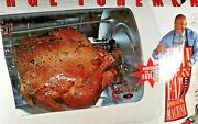 George Foreman Jr Rotisserie Grill And Veggie Basket Kabobs Gr82b Great Condition
