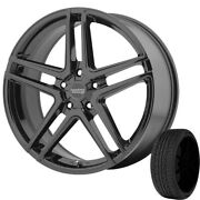 4-ar907 17x7.5 5x4.5 Gloss Black Rims W/225/50r17 Toyo Hp Ii Tires