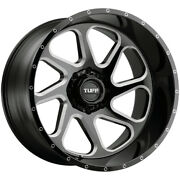 4-tuff T2b 26x14 8x170 -72mm Black/milled Wheels Rims 26 Inch