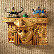 1920and039s Egyptian Revival Style Exhaulted Pharaoh Headpiece Wall Pediment Shelf
