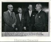 1961 Wire Photo The New Ap Officers, Henry Bradley, Nussbaum And Paul Miller