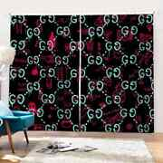Simple Capital Letters Echo Beauty Printing 3d Blockout Curtains Fabric Window