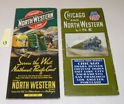 2 Time Tables, 1901 And 1939, Chicago And North Western Train Line, Union Pacific.