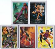 1992 Marvel Masterpieces, Lost Ladies Complete Chase Card Set Lm1-lm5, Joe Jusko