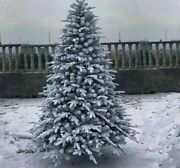 Flocking Christmas Tree Artificial White Snowflake Landscape Holiday Decorations