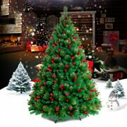 Luminous Pine Christmas Tree Red Green Colored Holiday Home Business Decorations
