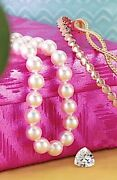 Akoya Pearl Necklace White 6-6.5mm Aa 14k Yellow Gold Clasp 7 18 24 Inch Length