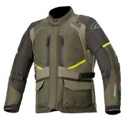 Alpinestars Andes V3 Drystar Forest Military Green Motorcycle Jacket - New F...