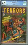 Terrors Of The Jungle 18 Cgc 7.5 Cr/ow Pages // L.b. Cole Cover