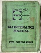 Fwd Tractioneer Truck Vintage Maintenance Manual