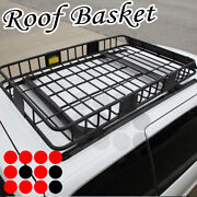 Fit Chevy Car Roof Top Basket Travel Luggage Carrier Cargo Rack + Extension