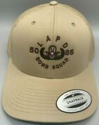 Lapd Bomb Squad Tan Hat/brown Lettering Authentic - New Free Shipping