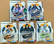 Hot Wheels Character Cars Overwatch Complete Set Of 5 By Mattel 164 Die-cast