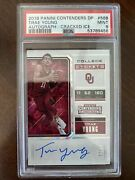 Trae Young 2018 Panini Contenders 56b Auto Cracked Ice /23 Psa 9 Pop 1 Rookie