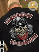 Biker Skull Sons With Arthritis Ibuprofen Chapter Menand039s Style T-shirt S-4xl