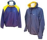 New Nike Athletic Dept Ad Wind Runner Jacket Reversible Yellow M
