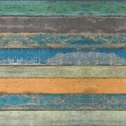 17.71 X 118 Wallpaper Distressed Wood Textured Peel And Stick Blue Green