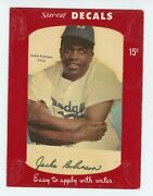 1952 Star-cal Decals Type 1 79-c Jackie Robinson Very Rare Brooklyn Dodgers C22